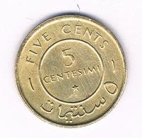 5 CENTESIMI 1967 SOMALIE /5891/ - Somalië