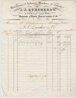 Ht RHIN : J.J. ZURCHER, Indiennes, Mouchoirs, Calicots à Cernay / Fact. De 1833 > Bordeaux - Textile & Clothing