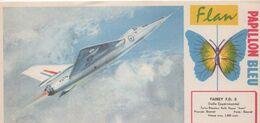 BUVARD  Flan PAPILLON BLEU-présentation De L'avion FAIREY F.D. 2 EXPERIMENTAL BRITANNIQUE - Caramelle & Dolci
