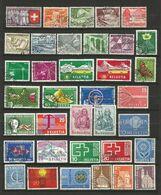 Suisse 1 Lot De 36 Timbres Oblitérés _ N°12 - Sammlungen (ohne Album)