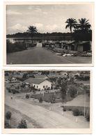3 X Province Du Bas Congo KITONA 1960 Vue Fleuve  + Quartier Blanc Panorama + Eglise Kerk Muona - Carte Photo Fotokaart - Belgian Congo - Other