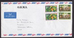 Niue: Airmail Cover To USA, 1978, 4 Stamps, Agriculture, Banana Harvest, Fruit, Food, Rare Real Use (minor Discolouring) - Niue