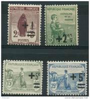 France (1922) N 162 à 165 ** (Luxe) - Ungebraucht