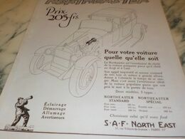 ANCIENNE PUBLICITE PRIX 205 FR CLAXONNE NORTHEASTER 1927 - Other