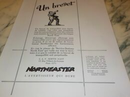 ANCIENNE PUBLICITE UN  BREVET  CLAXONNE NORTHEASTER 1927 - Other