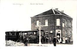 St Georges - Arrêt Du Tram (top Animation Tramway REPRODUCTION, Dos Nu) - Saint-Georges-sur-Meuse