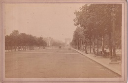 PHOTO CARTONNEE(PARIS) CHAMPS ELYSEES - Lugares