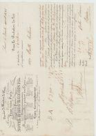 PARIS: NOVEL &  BOURGEOIS, Sce Maîtres De Poste, Roulage Accéléré / LV De 1835 - Transporte