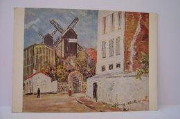 LE MOULIN DE LA GALETTE  - MONTMARTRE - Maurice  Utrillo   Peintre - ( Pas De Reflet Sur L'original ) - Distrito: 18