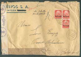 Lettre HELIOS A G à LINTGEN Affr. 3x8pfg Hindenburg Surch. Luxembourg Du 21-3-1941 Vers Tertre- 15925 - 1940-1944 Deutsche Besatzung