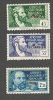FRENCH EQUATORIAL AFRICA1940-1: Yvrt.130,132,135mnh**(red Overprints) - Nuovi