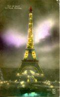 CPA - PARIS - TOUR EIFFEL - VUE DE NUIT (AVEC PUB CITROEN) - Tour Eiffel