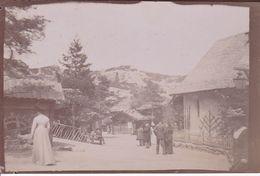 Photographie Originale 1900 Haute Savoie Ou Suisse Entrée De Village Avec Moulin A Eau A Situer Ref 947 - Guerre, Militaire