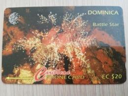 DOMINICA   GPT $ 20- BATTLE STAR         DOM-9F    9CDMF     Fine Used Card  ** 2806** - Dominica