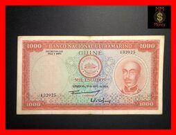 PORTUGUESE GUINEA 1.000  1000 Escudos  30.4.1964   P. 43   VF + - Altri – Africa