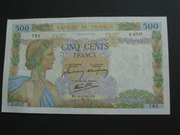 500 Francs - La Paix  10-9-1942  **** EN ACHAT IMMEDIAT **** - 500 F 1940-1944 ''La Paix''