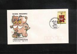 South Korea 1988 Paralympics FDC - Summer 1988: Seoul