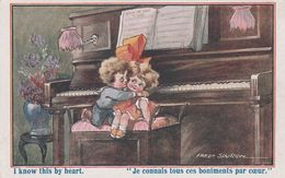 CPA Enfant Amourette Boniments Instrument Musique Piano Music Illustrateur F. SPURGIN N° 456 (2 Scans) - Spurgin, Fred