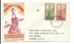 NEW ZEALAND > 2 Health Postage Stamps On Official Souvenir Cover Letter 1945 - Covers & Documents