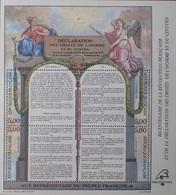 2508 - 1989 - DECLARATION DES DROITS DE L'HOMME - N°11 BLOC NEUF** - Nuovi