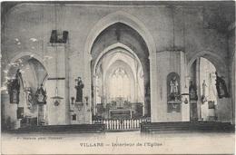 01 - VILLARS Intérieur De L'Eglise écrite - Villars-les-Dombes
