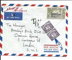 2 Stamps Postage Due 3d. X 2 ( Letter SIERRA LEONE 1956) - Tasse