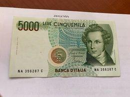 Italy Bellini Uncirculated Banknote 5000 Lira #11 - 5000 Lire