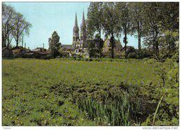 Carte Postale 44. Machecoul  Et L'église De La Trinité Trés Beau Plan - Machecoul
