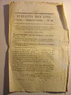 BULLETIN DES LOIS Du 25 JUILLET 1831 - REVOLUTION JOURNEES DE JUILLET CEREMONIES FETES CHAPEAUX MARSEILLE RUISSEAU LABAT - Wetten & Decreten