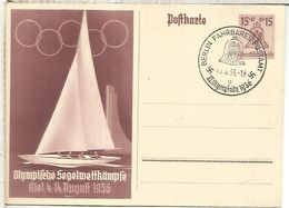 ALEMANIA BERLIN 1936 ENTERO POSTAL JUEGOS OLIMPICOS MAT FAHRBARES POSTAMT OFICINA AMBULANTE - Sommer 1936: Berlin