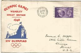 REINO UNIDO 1948 CC MAT JUEGOS OLIMPICOS DE LONDRES OLYMPIC GAMES WEMBLEY - Summer 1948: London