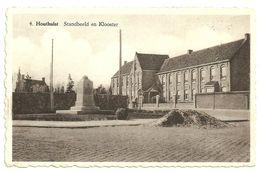 HOUTHULST  -  Standbeeld En Klooster - Houthulst