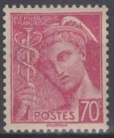 FRANCE : RARE MERCURE N° 416a TYPE II NEUF ** GOMME SANS CHARNIERE - COTE 125 € - 1938-42 Mercure