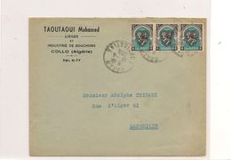 13-4-1955 ENVELOPPE DE  COLLO  POUR MARSEILLE - Covers & Documents