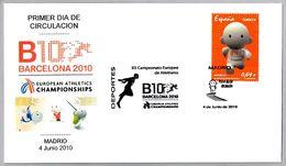 XX Campeonato De Europa De ATLETISMO - XX European Champ. ATHLETICS - BARCELONA 2010 FDC - Athletics
