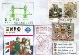 UK-GRANDE BRETAGNE. EXPO UNIVERSELLE MILANO 2015, Lettre Du Pavillon (HIVE), Avec Tampon Officiel EXPO - Covers & Documents