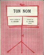 """""""Ton Nom"""" - Paroles Et Musique De S. Adamo - Musica & Strumenti"""