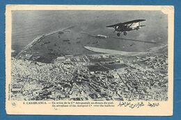 CASABLANCA UN AVION DE LA CITE AEROPOSTALE AU-DESSUS DU PORT 1935 N°724 - Casablanca