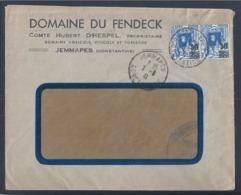 Jemmapes. Constantine, Algeria. 2nd World War. Stamps With Overload. Tsmara Wines. Vins Tsmara. Argélia. - Cartas