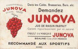 Pub /   Buvard Junova , Jus De Raisin    ( Années 30)   ///  Ref.  Juillet 20 - Alimentaire