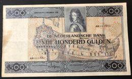NETHERLANDS OLANDA  500 GULDEN 02 12 1930 Rara Cod.olanda.04 - [2] 1815-… : Koninkrijk Der Verenigde Nederlanden