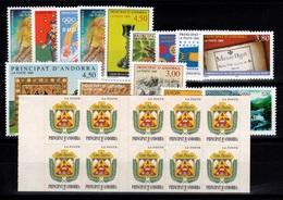 Andorre - Annee Complete 1998 N** , YV 497 à 511 , Carnet Complet Pour Le 502 , Cote 66,10 Euros - Años Completos