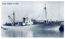 "PHOTO  BATEAU "" SAADA"" CARGOS CHERIFIENS MAROC EX "" KINCARDINE "" CANADA 1944 SOUTH BANK - Barche"