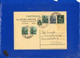 ##(DAN207)-1947-Cartolina Postale Cent.60 Cat Filagrano C126 Usata In Repubblica Tariffa L.4 ,varietà Stampa Privata - 1946-60: Marcofilie