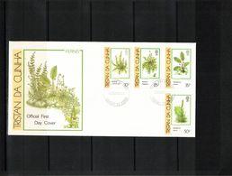 Tristan Da Cunha 1989 Ferns FDC - Vegetales