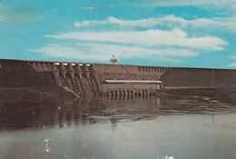 DAM AT AFOBAKA AND GENERATING STATION. SURINAME CPSM. CIRCULEE 1969, PARAMARIBO A VALLE DE CALAMUCHITA.  -LILHU - Suriname