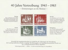 Berlin / 1985 / Vignettenblock (*) (CF91) - Bloques