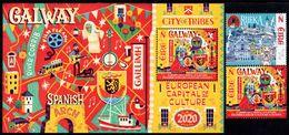 Ireland - 2020 - Galway And Rijeka - European Capitals Of Culture 2020 - Mint Stamp Set + Souvenir Sheet - 1949-... Repubblica D'Irlanda