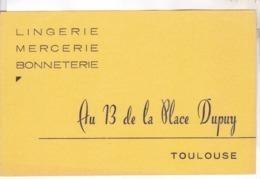 BUVARD AU 13 DE LA PLACE DUPUY A TOULOUSE, LINGERIE - Textile & Vestimentaire