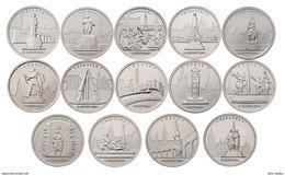 Russia, 2016 II World War European Liberated Capitals, 14 Coins X 5 Rbl - Russie